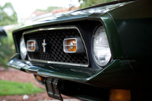 1971 Mustang Mach 1 grill and nose detail